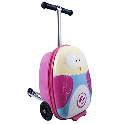 "Flyte Unisex Youth Olivia The Owl 18"" Midi Scooter Suitcase, Pink, Inch"