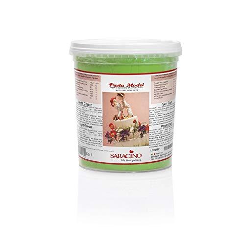Saracino - Pasta modellante per modellare, verde chiaro, 1 kg