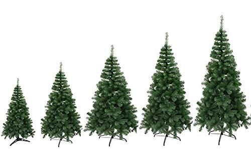 TIENDA EURASIA® Árbol de Navidad - Árboles de Navidad Artificiales - Soporte de Pie Metálico - Medidas 90-210 cm - Colores Verde y Blanco - Fácil Montaje - Embalaje en Caja (Verde, 90CM)