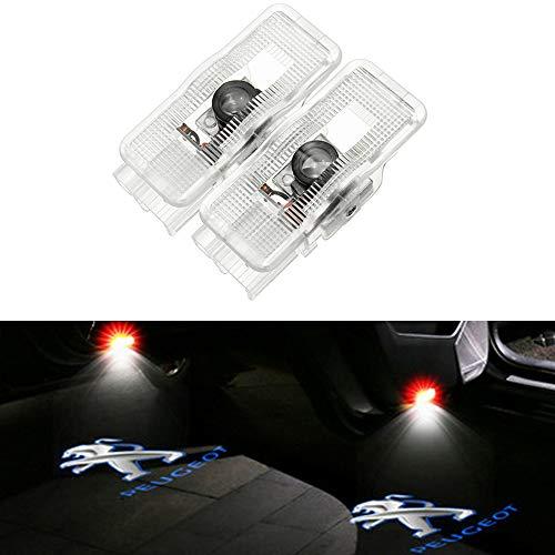 ZHANGNA 2 Piezas Car Puerta Logo Proyector Bienvenido Ghost Sombra ...