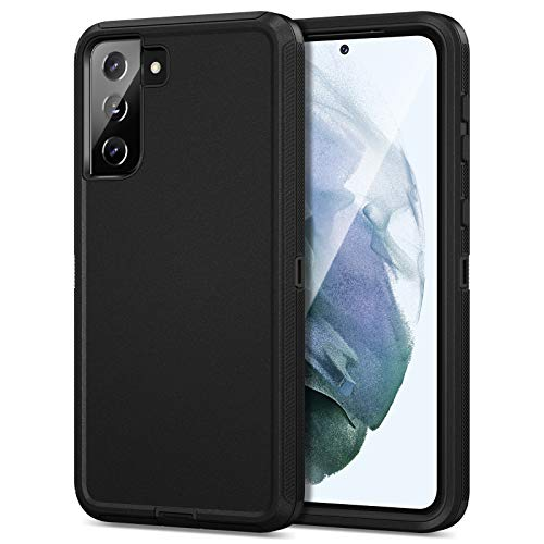 Jiunai for Samsung Galaxy S21 case, Dual Layer Shockproof Outdoor Sports Tough Hybrid Bumper Drop Protection Rugged Rubber Defend Matte Armor Cover Phone Case for Samsung Galaxy S21 5G 2021 Black