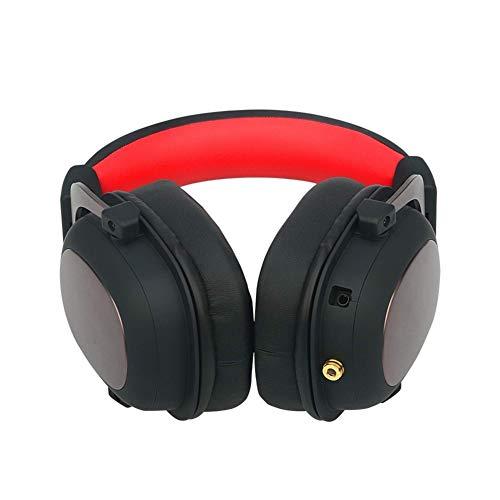 C- Cuffie da Gioco Stereo con Filo 7.1 Cuffie con Suono Surround Cuffie con Microfono Rimovibile, Cuffie da Gioco Over Ear per PC, PS4, Xbox One, Switch
