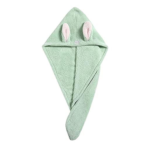 Beifeng Toalla de secado de pelo lindo ultra absorbente conveniencia secado rápido turbante pelo toalla abrigo para las mujeres cabello mojado
