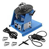 Hanchen Rotary Welding Positioner 0-90º 180mm Turntable Table Welder Positioner for Circle Welding 3.15' 80mm Chuck with CE Certificate