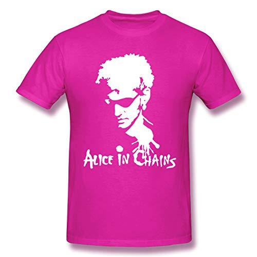 Alice In Chains Men Short Sleeve T-Shirt Rock Gifts T Shirt Fuchusia XL