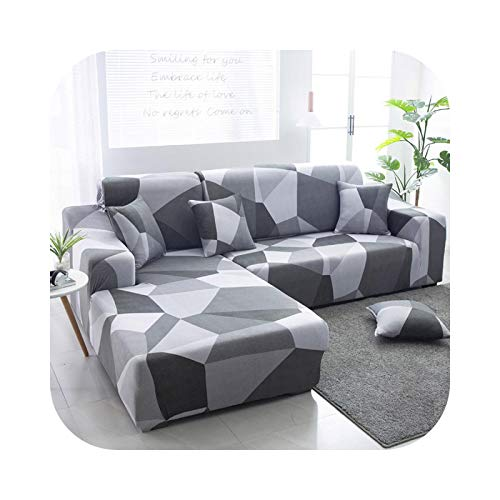 2021 Sofa Covers for Living Room stretchcover sofacombination Geometric Sofa Cover Corner L Shaped Sofa Cover Furniture covers-22-2-seater 145-185cm