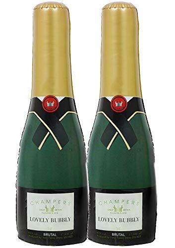 ILOVEFANCYDRESS 2 AUFBLASBARE Champagne Flaschen UNGEFÄHR 73cm HOCH= DIE PERFEKTE Dekoration FÜR Jede Art DER Party DER Hochzeit ODER Geburtstag