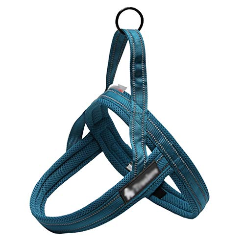 Pet borst riem tractie touw borst terug vest-stijl Hond ketting reflecterende strips zacht comfortabel stevig duurzaam (kleur: A, Maat : XL 80-92CM)