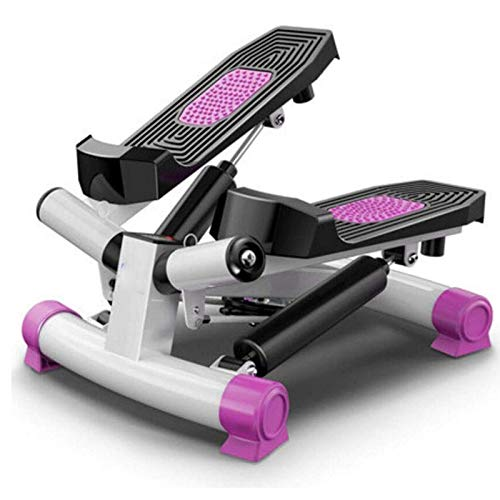 Stair Stepper Stand Up Bike Mini Entrenadores Elípticos Pedal Pedal Pantalón Pantalla Pantalla Aire Escalador Paso Máquina Ejercicio con resistencia  W / Resistencia ajustable y  ( Color : Pink )