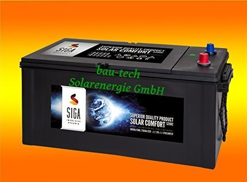 bau-tech Solarenergie 280Ah 12Volt Calcium Solar Batterie Akku Wohnmobil Boot Versorgungsbatterie GmbH
