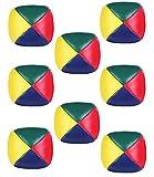 Pelotas de Malabares,8 PCS Bolas de Malabares Pelotas de Circo Pelota de Malabares de Cuero PU para Principiantes Adultos Niños Jardín de Infantes 5*5CM