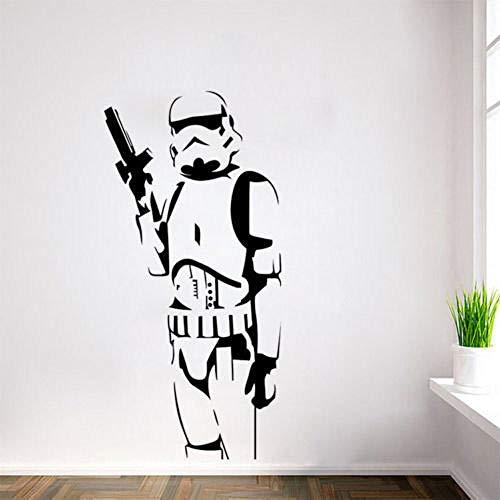 GVC Star Wars Classic Stormtrooper Wandaufkleber PVC Wandtattoo Removable Home Decor