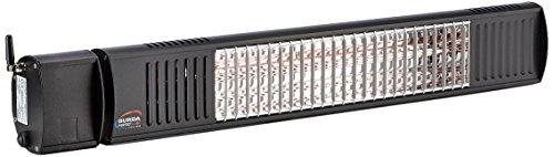 BurdaWTG BTURCAC200V9005 TERM2000 IP67 Bluetooth App & Remote 710mm, 2000 W, 230 V, RAL 9005-schwarz, Maße: 708 x 100 x 125 mm