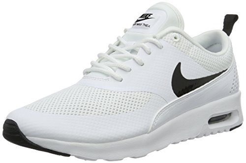 Nike Women's Air Max Thea Low-Top Sneakers, Off White (White/Black), 3 UK 3UK