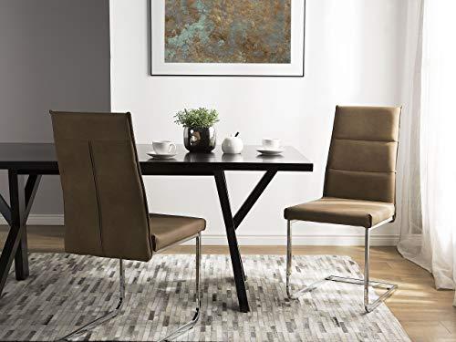 Beliani Conjunto de 2 sillas de Comedor Beige Arena Rockford
