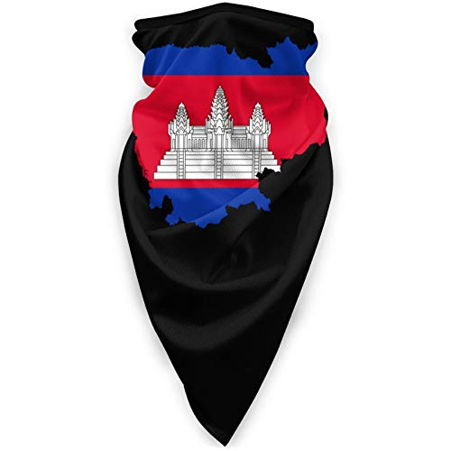 Cambodian Buddha Flag Breathable Comfortable dust Cover Men and Women Outdoor Sports Face Neck Mask Black