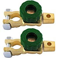 Interruptor de Desconexión de Batería Interruptor Aislador de Batería de 6 a 24V 125 Amp Poweka para Batería de Coche Camión RV Vehículo (2 Piezas)