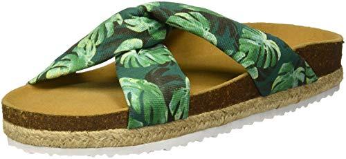 PAEZ Sandal Knot Palms, Sandalias con Punta Abierta Mujer, Verde (Verde 418), 38 EU