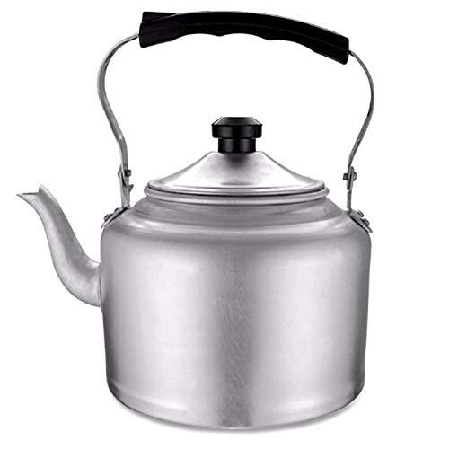 the teapot company Fornello Top Bollitore in Alluminio Teiera Ampio bollitore da tè con Manico di Raffreddamento per cucine domestiche (Colore : Silver, Taglia : 8L)