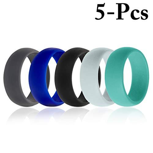 5 STKS Siliconen Ringen Minimalistische Trouwringen Bruiloft Bands voor Sport Fitness