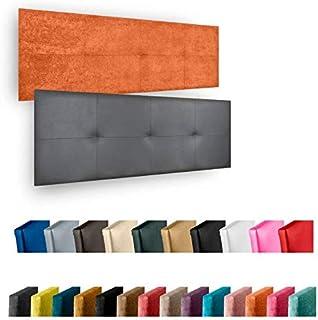 Cabecero de Cama Modelo CÁCERES tapizado en Polipiel Azahar.para Cama de 180 (Medidas 190x50x5).Color Blanco.Pro Elite.
