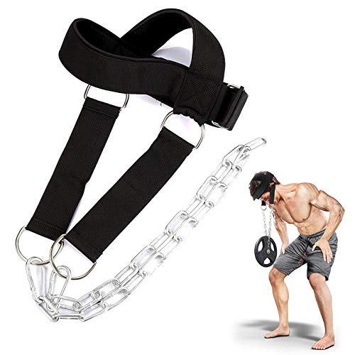 NC Neck Harness for Weight Training Neck Exerciser, Ideal Neck Exercise Equipment for Neck Workout,...