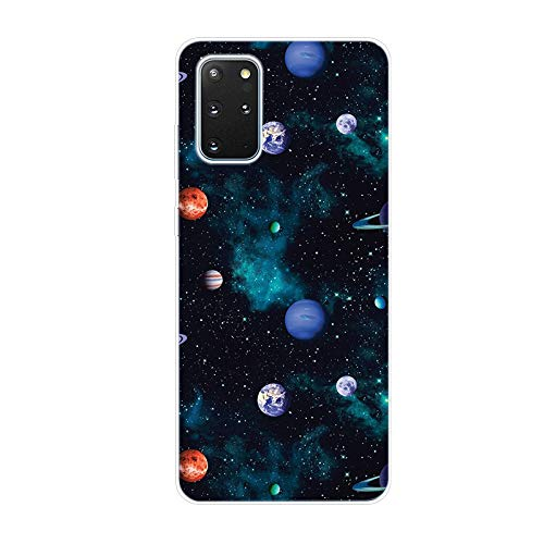 6City8Ni Girls Cosmos Fairy Cartoon per Samsung Note 20,Silicone Made Easy with Comfortable On-The-Go Cover Colorful Anti-Scratch Flessibile Gel TPU Bumper in Sottile Colore Custodia