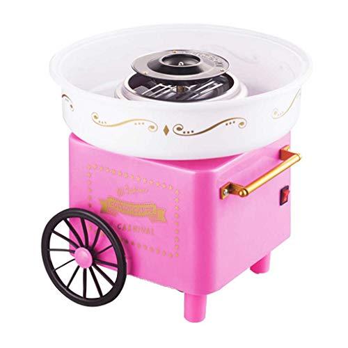 Mini Portable Machine À Bonbons en Coton Bonbons Nostalgie Floss Sugar Machine À Coton Machine À Bonbons en Coton pour La Maison Enfants Cadeau Carnaval Party Roscloud@ (Couleur : Pink)