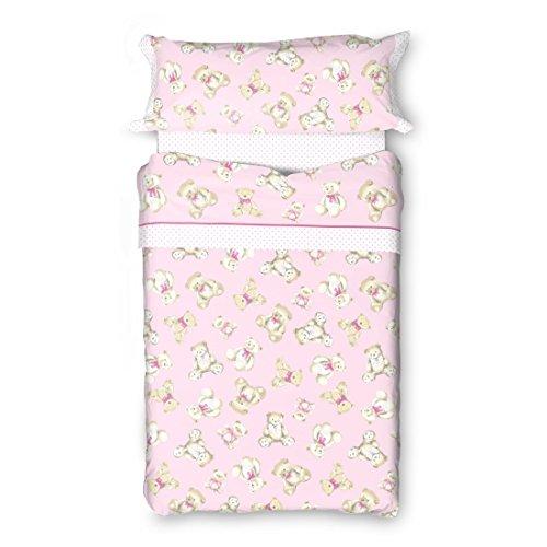 Burrito Blanco - Funda nórdica 149 Rosa de cama de 90x190/200 cm
