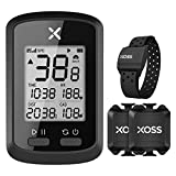 XOSS G+ GPS Cycling Computer Wireless Bike Speedometer Odometer Cycling Waterproof Road Bike MTB Bicycle Bluetooth ANT+ with Cadence and Heart Rate Monitor