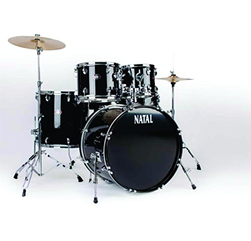 Natal Drums DNA, 5 Drum Set, Black (K-DN-UF22-BK)