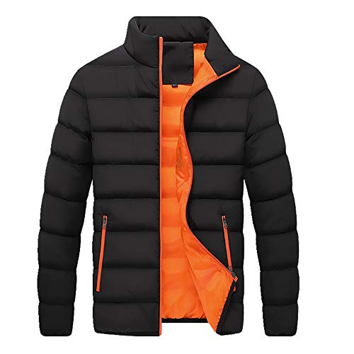 acolchado de los hombres otoño e invierno delgado abrigo juvenil pie collar puro algodón ropa casual cálido acolchado hombres