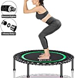 DARCHEN 450 lbs Mini Trampoline for Adults, Indoor Small Rebounder Exercise Trampoline for Workout...