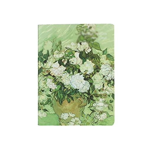 Linjolly Cuaderno B5 Notebook Creativo Diario Engrosado Simple Simple Retro Leaf-Hoja Detachable Bloc de Notas con páginas divisoras (85 Hojas / 170 páginas) Diario (Color : B)