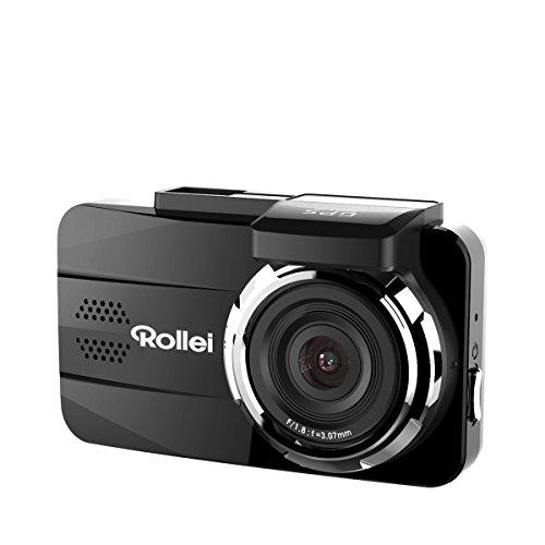Rollei CarDVR-308 - Cámara para auto (Dashcam) de alta resolución con GPS, incl. sensor de movimiento y módulo GPS - Negro