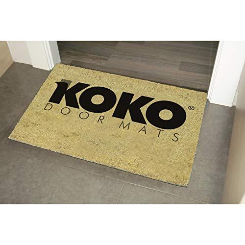 KOKO DOORMATS felpudos Entrada casa Originales, Fibra de Coco y PVC, Felpudo Exterior Don