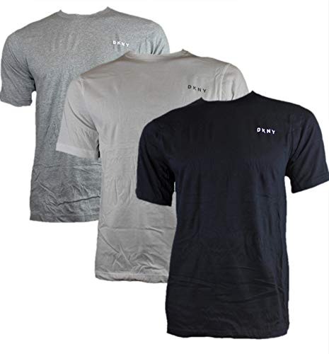 DKNY 3er Pack Herren T-Shirt Giants Größe S - XL Black White Grey NEU, Größe:M