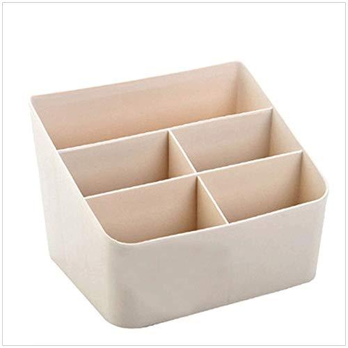 GFDFD Storage Box-Life All-in-One Control Remoto, Organizador - También sostiene teléfonos, Libros, Gafas (Color : Beige)
