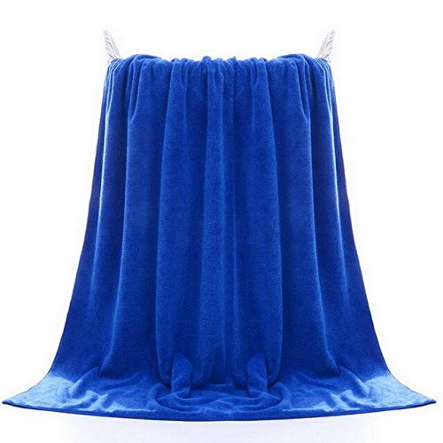 Heliansheng Toalla de Cara súper Absorbente Grande Toalla de baño sólida de algodón Grueso Toalla de Playa para Adultos-Azul marino-70x140cm