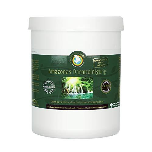 Premium Amazonas Darmreinigung von Regenbogenkreis - Flohsamenschalen BIO Pulver - Glutenfrei Laktosefrei Vegan Zuckerfrei - inkl. GRATIS eBook - 500g Dose [plastikfrei]