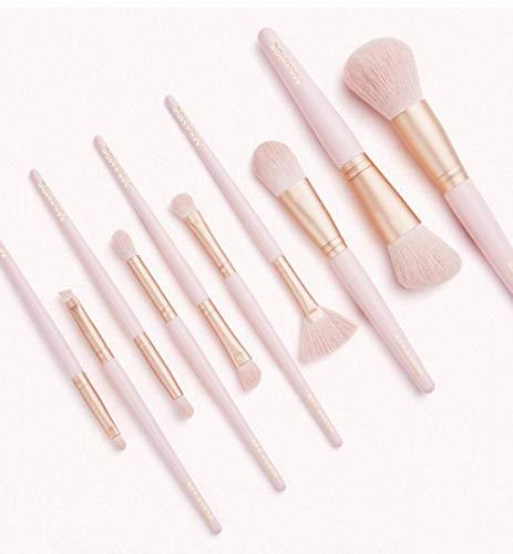 Professionnel Pinceaux De Maquillage Set, Kabuki Synthétiques Micro Fibre Denses Makeup Brushes Pinceaux Maquillage Kit Blending Correcteur Poudre Fard à Paupières Eyeliner Blush -Rose