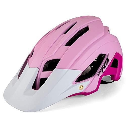 Brony Casco De Bicicleta para Adultos Resistente A Los Golpes Ligero EPS PC Sports MTB Protector De Bicicleta Hombres Mujeres Unisex J654,Rosado