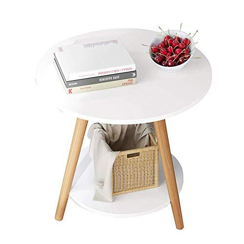 JINKEBIN Tavolo pieghevole Tavolino moderna rotonda Tavolino Tavolino Accent Tavolino snack Desk In Salone for Scrivere Lavorare Mobili for la casa Divano laterale End Table (Colore: Bianco, Dimension