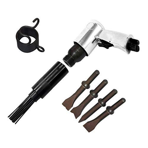 Dapetz  150mm Air Hammer Drill Gun + 4 X Chisels + 19 Needle Descaler Remover