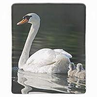 マウスパッド ゲーミング 防水 250*300*3mm 白鳥鳥赤ちゃん水泳ファミリーケア