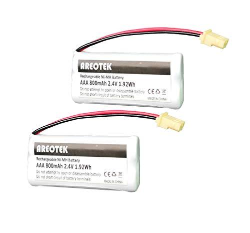 2-Pack Areotek BT183342 BT283342 BT166342 BT266342 BT162342 BT262342 Battery Compatible with VTech CS6114 CS6419 CS6719 AT&T EL52300 CL80112 VTech CS6719-2 Cordless Phone and Handset
