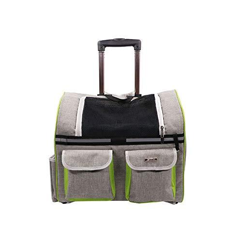 MRZ Valigetta per Trolley, Valigia per Cani, Tracolla per Animali Domestici, capacità di carico Massima 15 kg