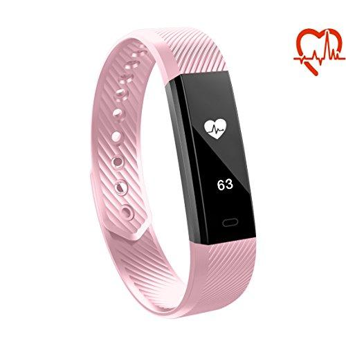 Toksum Alfa HR Slim Fitness Activity Tracker Smart Wristband | Braccialetto da orologeria portatile con monitoraggio del sonno e del sonno Per i bambini, le donne e gli uomini | Per iPhone e Android