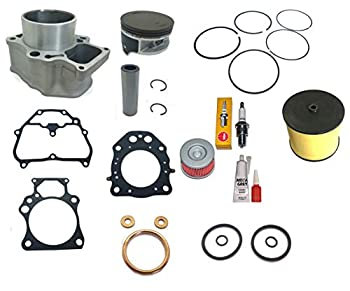 Top Notch Parts Replacement Cylinder Top End Kit For 2007 2008 2009 2010 2011 2012 2013 2014 2015 2016 2017 2018 Honda TRX 420 Rancher Air Filter Oil Filter Piston Gasket Kit