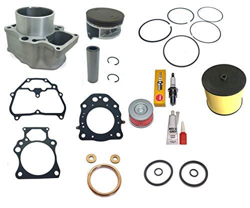 Cylinder Top End Kit For 2007 2008 2009 2010 2011 2012 2013 2014 2015 2016 2017 2018 Honda TRX 420 Rancher Air Filter Oil Filter Piston Gasket Kit